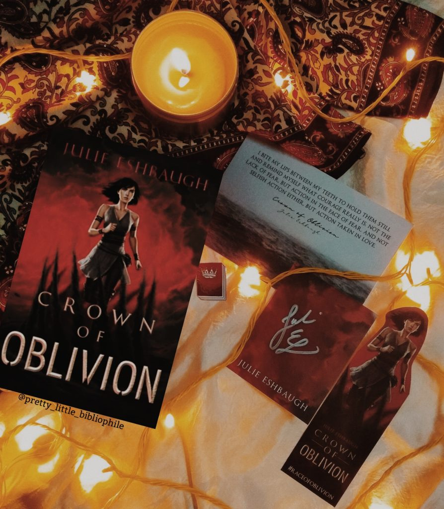 Crown of Oblivion is a brand new fantasy series set in a dystopian world! Also compared to The Hunger Games, this is one book I'm excited to read through.